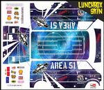 Area 51 Alien themed vinyl SKIN Kit & Stickers To Fit Tamiya Lunchbox R/C Monster Truck